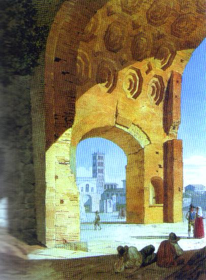 Rome View Of The Baths Of Diocletian 1823   Brulloff-Alexander   Oil Painting