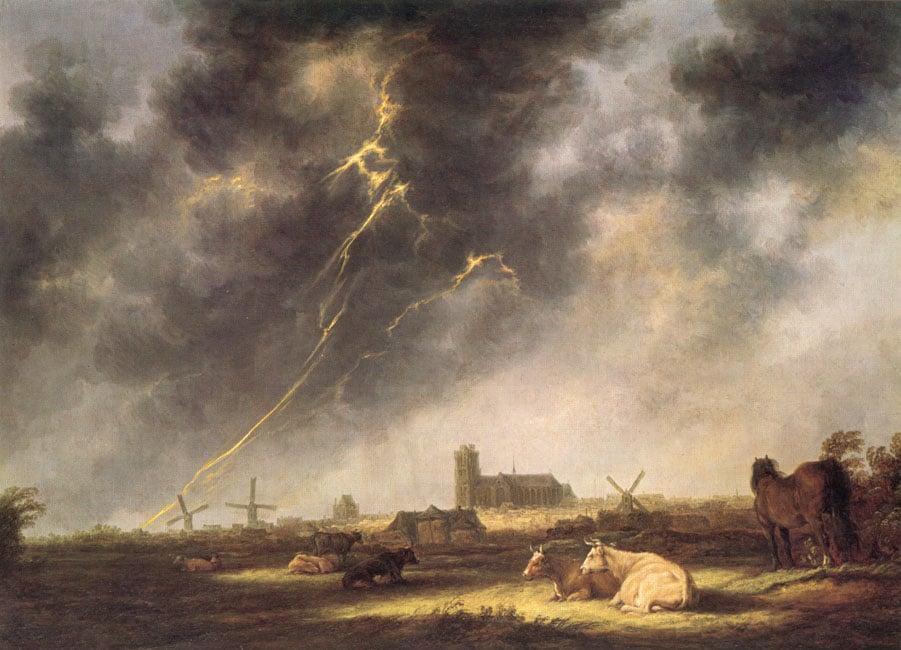 Thunderstorm over Dordrecht | Aelbert Cuyp | Oil Painting