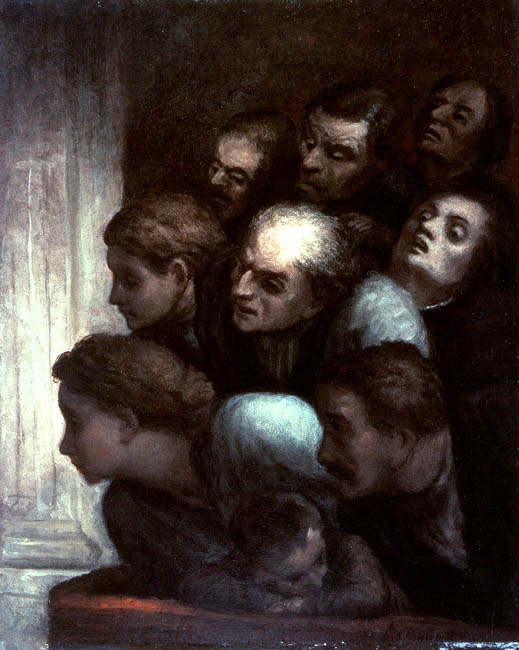 The Free Performance | Honore Daumier | Oil Painting