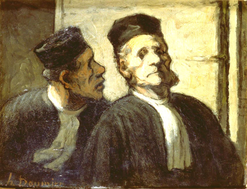 The two Attorneys | Honore Daumier | Oil Painting