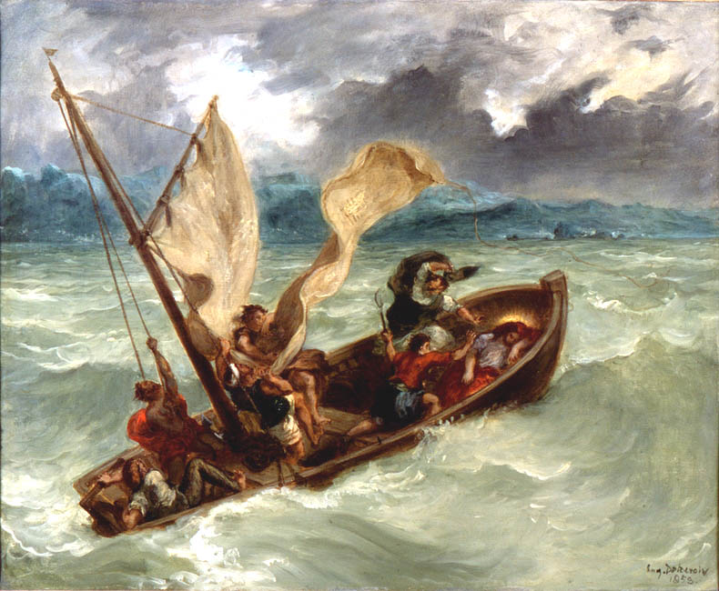 Christ on the Sea of Galilee | Eugene Delacroix | Oil Painting