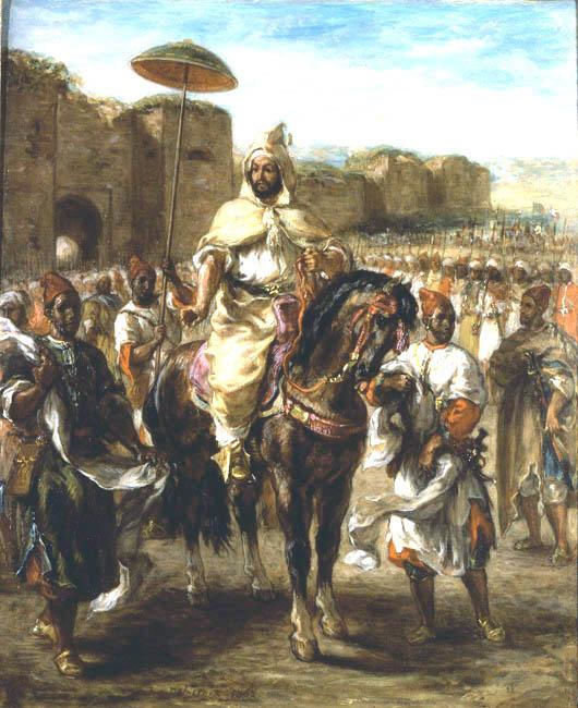 Muley Abd el Rahman | Eugene Delacroix | Oil Painting