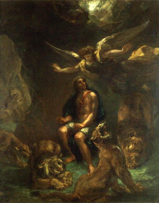 Daniel in the Lions' Den | Eugene Delacroix | Oil Painting
