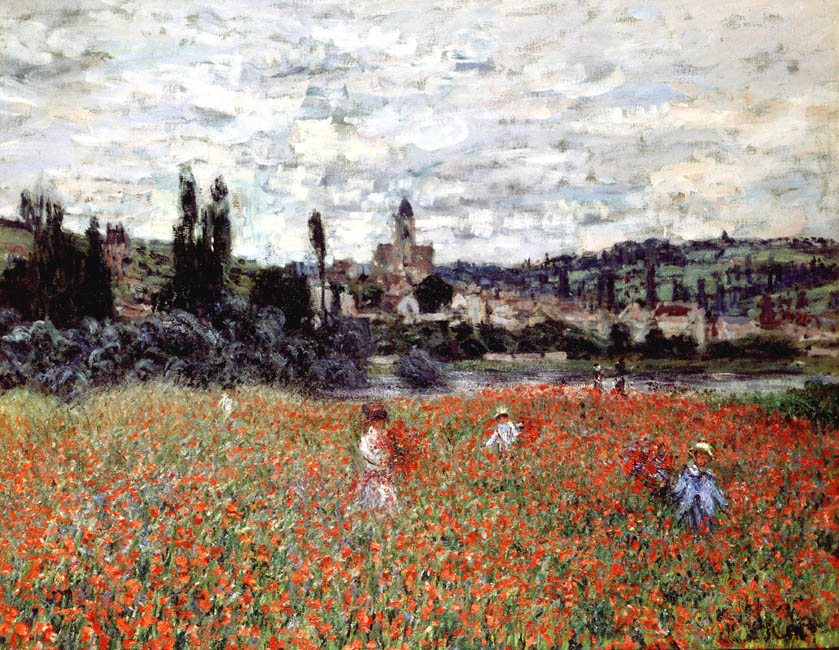 Poppies near Vetheuil | Claude Monet | Oil Painting
