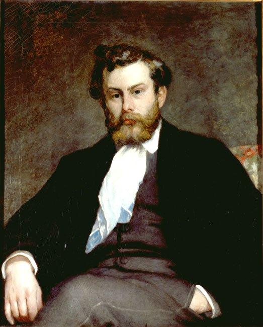 Portrait of the Painter Alfred Sisley   Pierre Auguste Renoir   Oil Painting