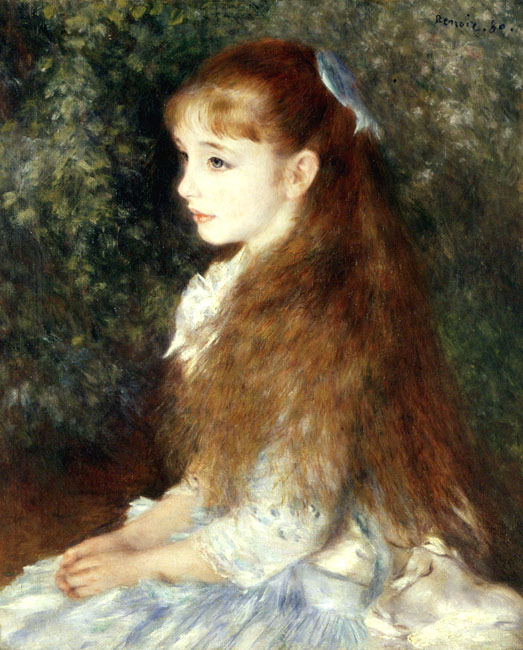 Portrait of Mademoiselle Irene Cahen d`Anvers (Little Irene) | Pierre Auguste Renoir | Oil Painting