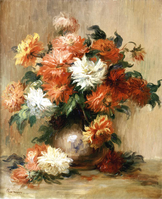 Still Life with Dahlias | Pierre Auguste Renoir | Oil Painting
