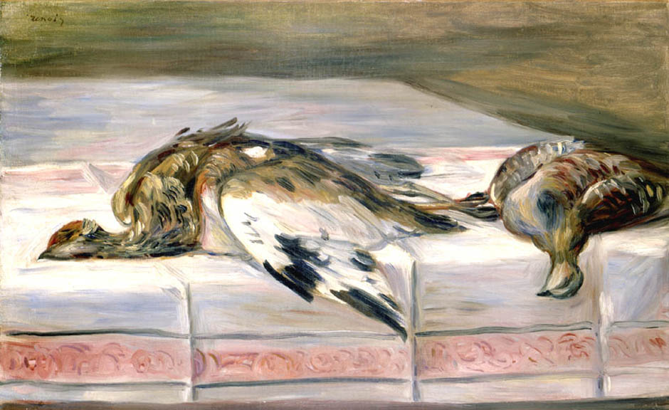 Still Life with Pheasant and Partridge | Pierre Auguste Renoir | Oil Painting