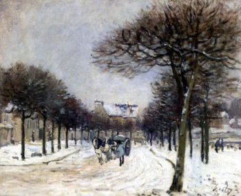 Road from Saint Germain to Marly | Alfred Sisley | Oil Painting