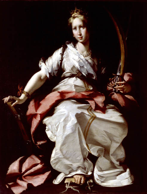 St. Catherine of Alexandria | Bernardo Strozzi | Oil Painting