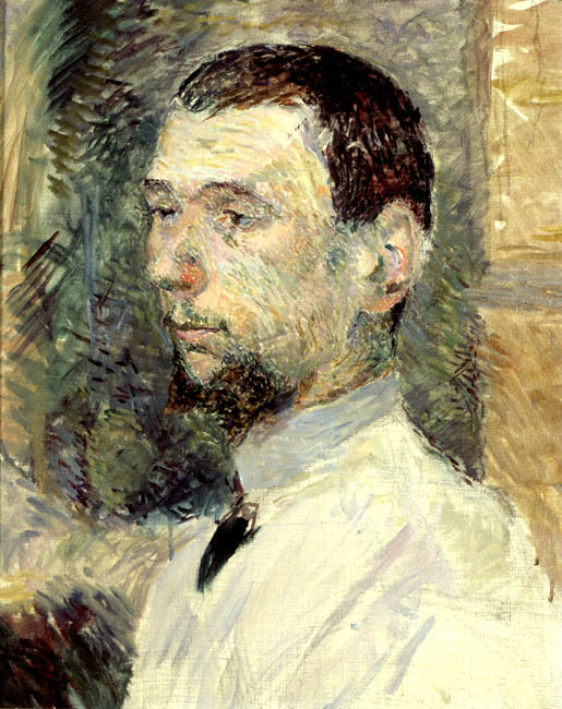 Portrait of the Painter Fran_ois Gauzi | Henri de Toulouse Lautrec | Oil Painting