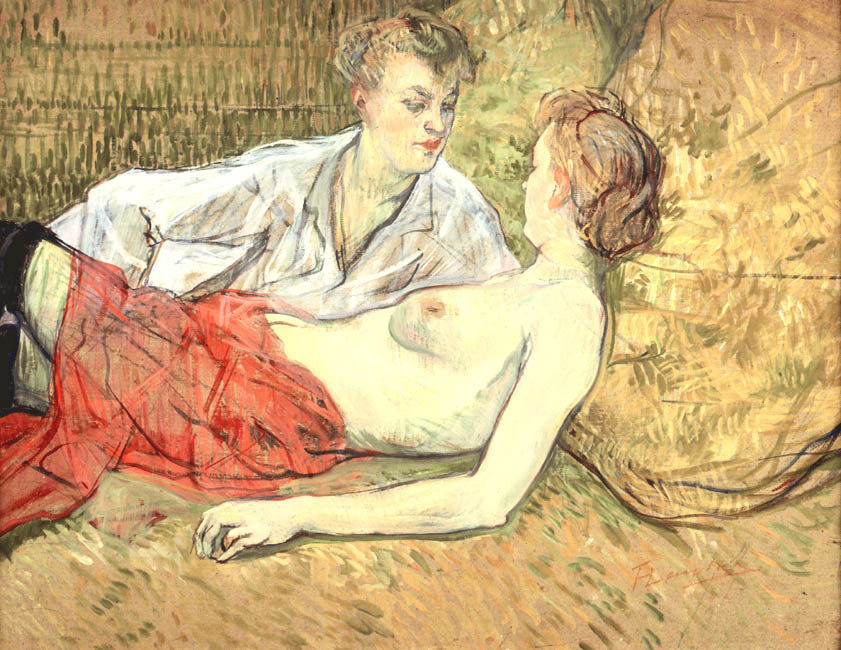 The Two Friends | Henri de Toulouse Lautrec | Oil Painting