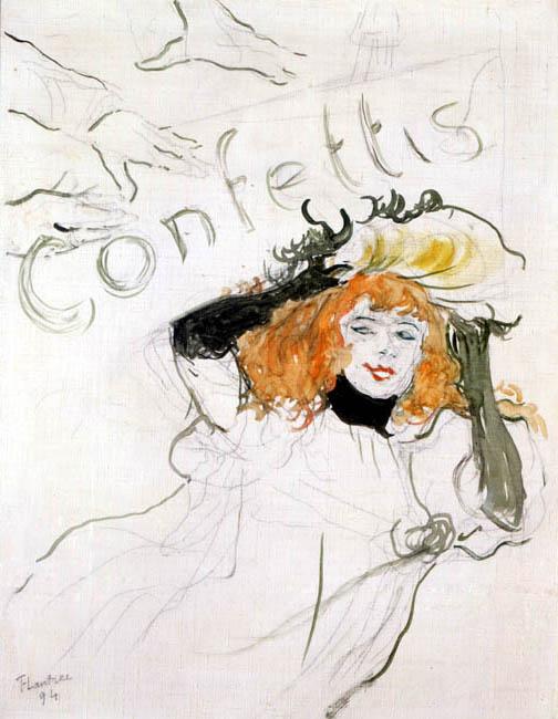 Confettis | Henri de Toulouse Lautrec | Oil Painting