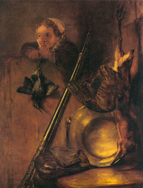 Still Life with Bittern and a Girl | Rembrandt van Rijn | Oil Painting