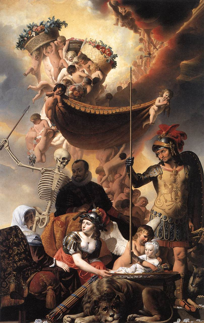 Allegory Of The Birth Of Frederik Hendrik 1650 | Caesar Van Everdingen | Oil Painting
