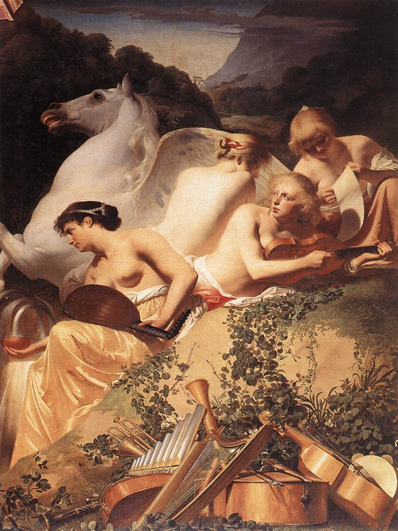 The Four Muses With Pegasus 1650 | Caesar Van Everdingen | Oil Painting