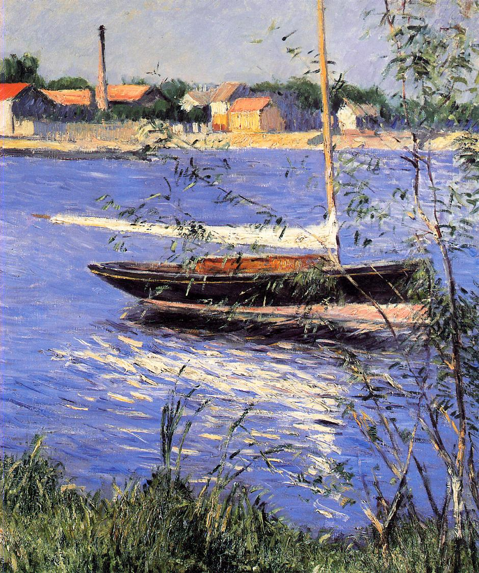 Anchored Boat on the Seine at Argenteuil  1888 | Gustave Caillebotte | Oil Painting