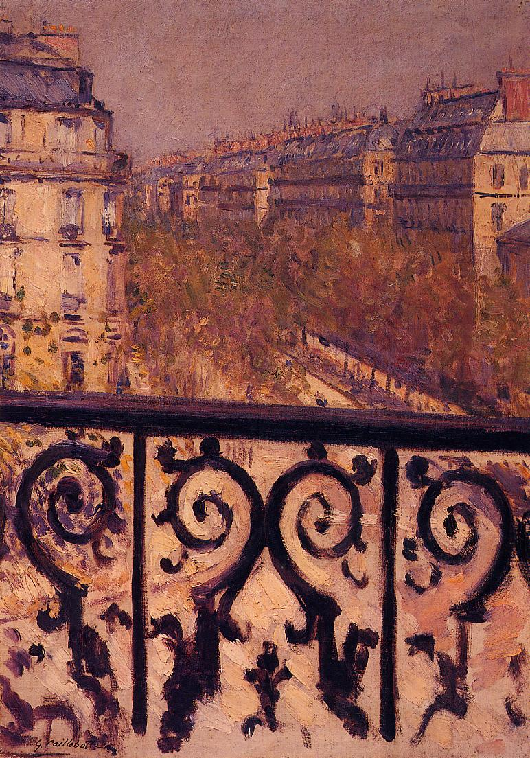 A Balcony in Paris  1880-1881 | Gustave Caillebotte | Oil Painting