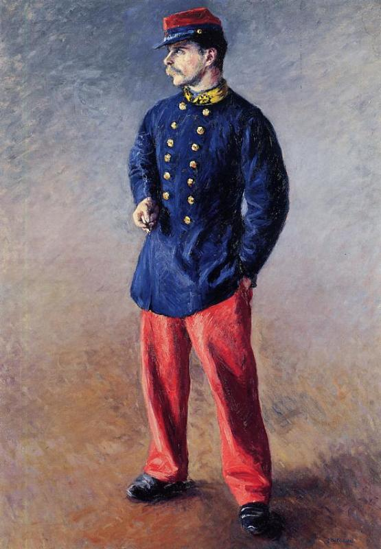A Soldier  1881 | Gustave Caillebotte | Oil Painting