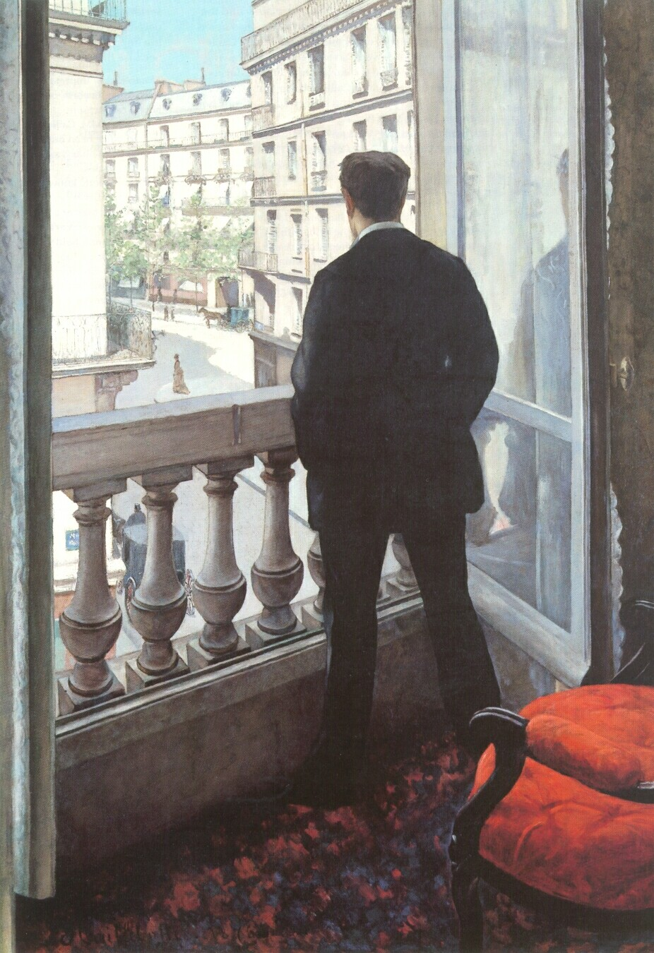 A Young Man at His Window  1875 | Gustave Caillebotte | Oil Painting