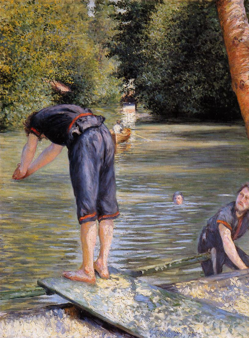 Bathers  1878 | Gustave Caillebotte | Oil Painting