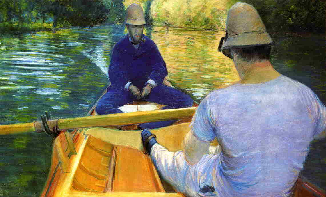 Boaters on the Yerres  1877 | Gustave Caillebotte | Oil Painting