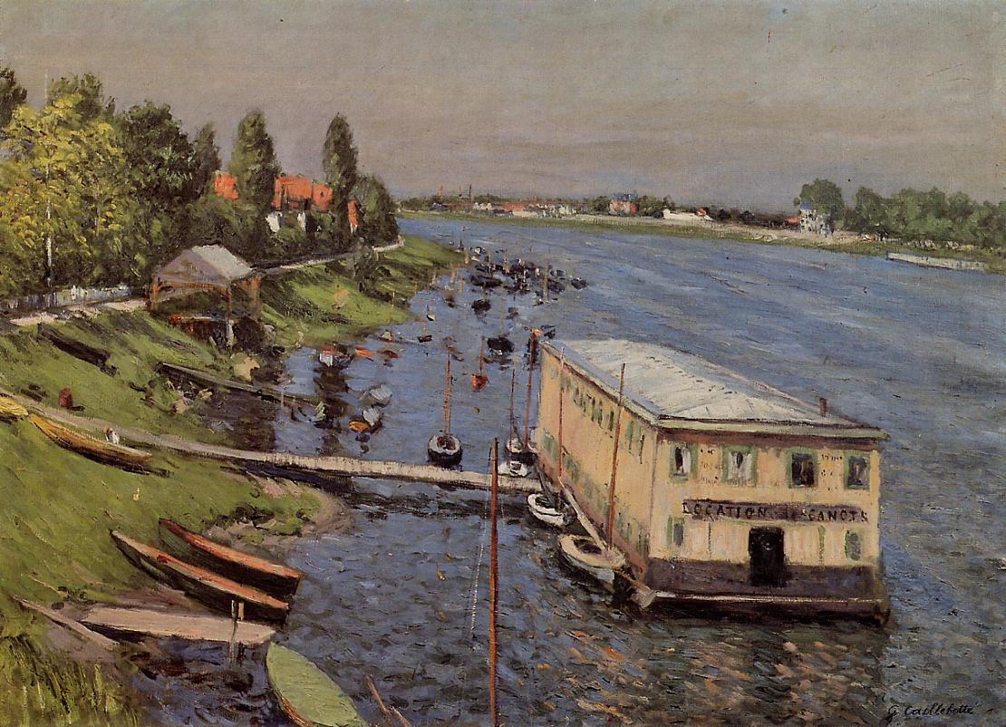 Boathouse in Argenteuil  1886-1887 | Gustave Caillebotte | Oil Painting