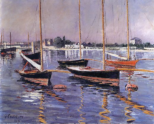 Boats on the Seine at Argenteuil  1890 | Gustave Caillebotte | Oil Painting