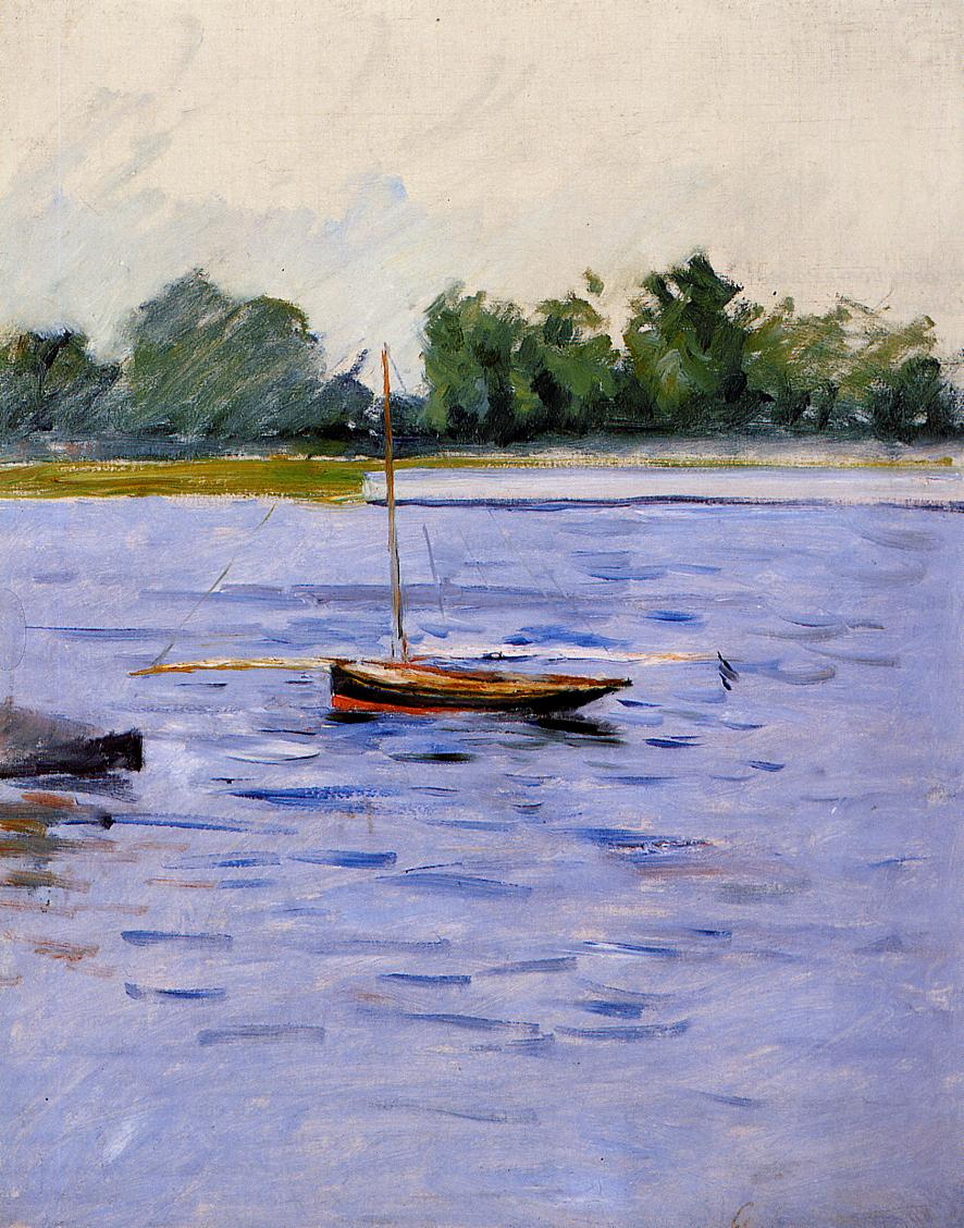 Boat at Anchor on the Seine  1890-1891 | Gustave Caillebotte | Oil Painting