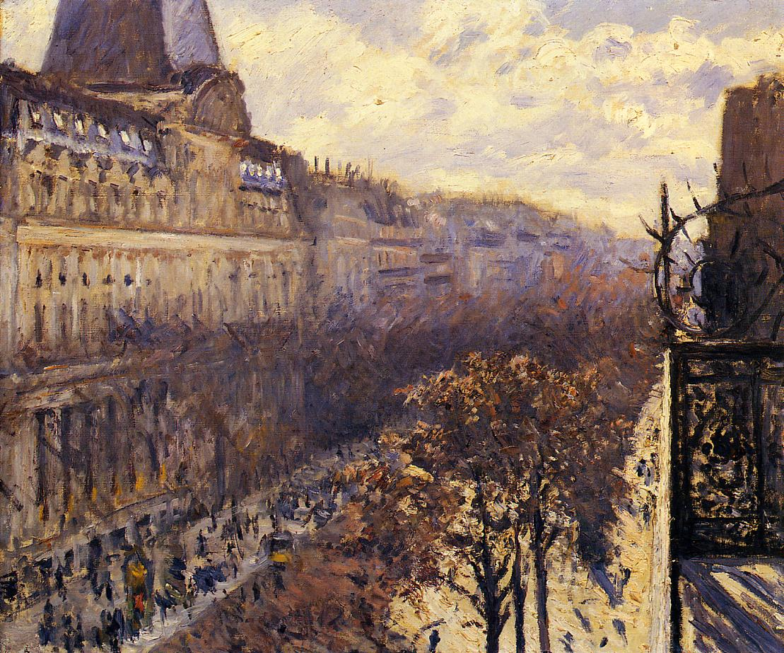 Boulevard des Italiens  1880 | Gustave Caillebotte | Oil Painting