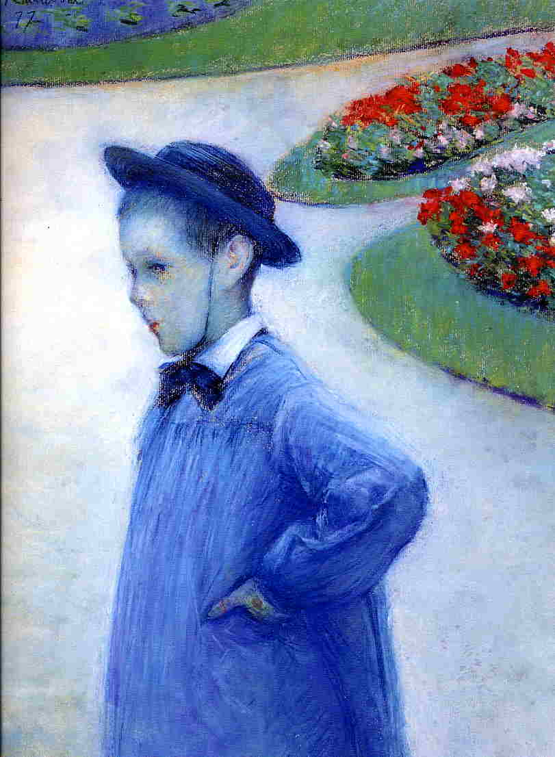 Camille Daurelle in the Park at Yerres  1877 | Gustave Caillebotte | Oil Painting