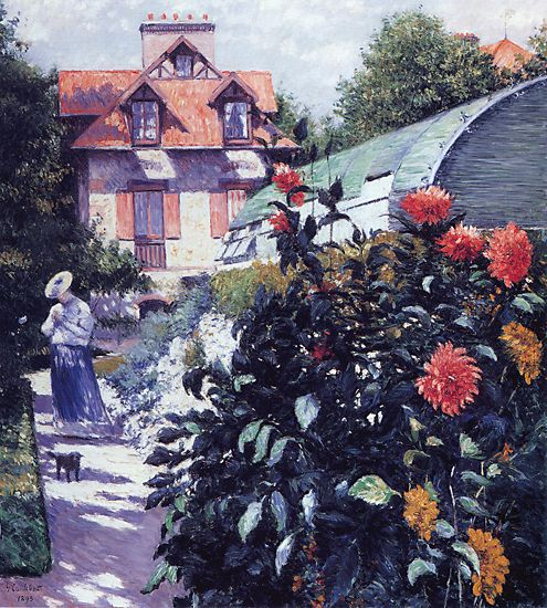 Dahlias The Garden at Petit Gennevilliers  1893 | Gustave Caillebotte | Oil Painting
