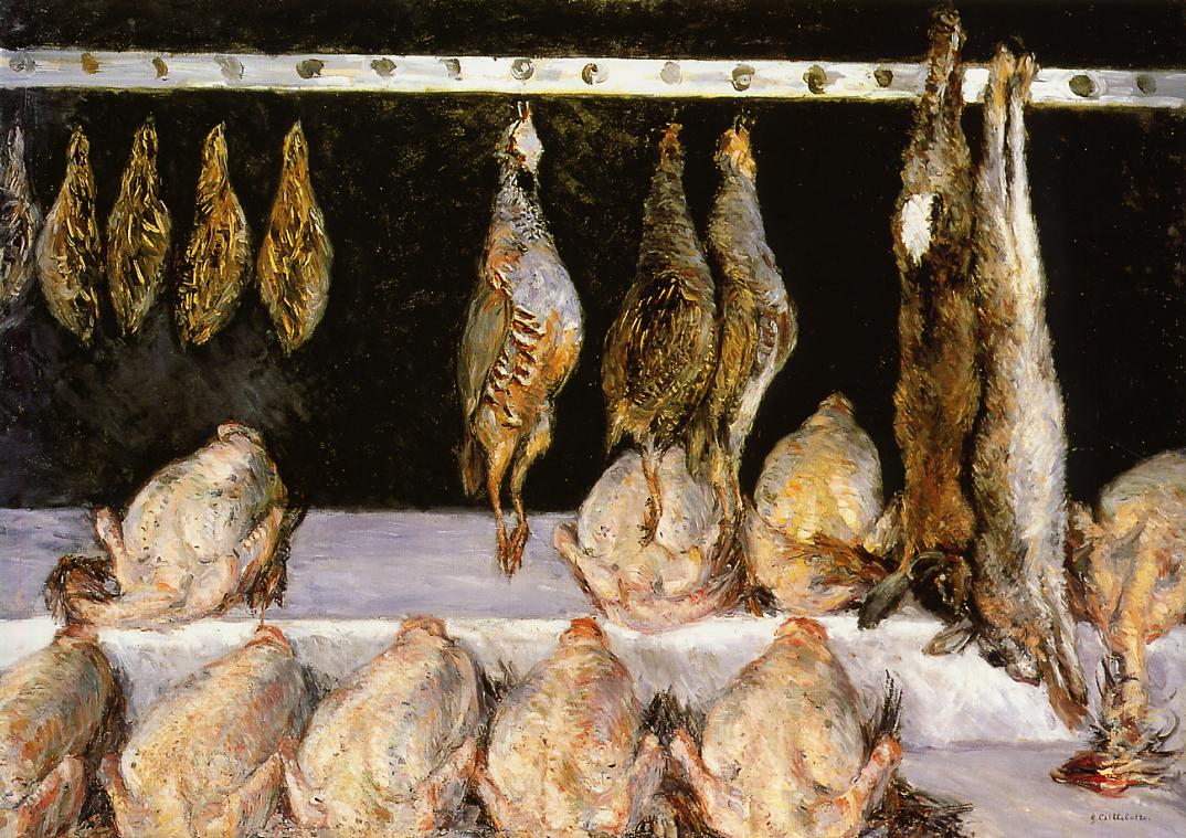 Display of Chickens and Game Birds  1882 | Gustave Caillebotte | Oil Painting