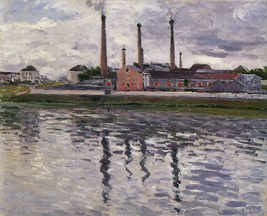 Factories at Argenteuil  1888 | Gustave Caillebotte | Oil Painting