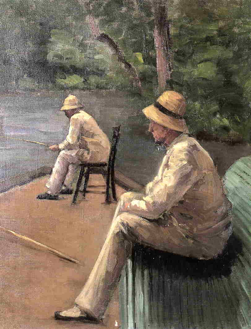 Fishermen on the Banks of the Yerres  1876 | Gustave Caillebotte | Oil Painting