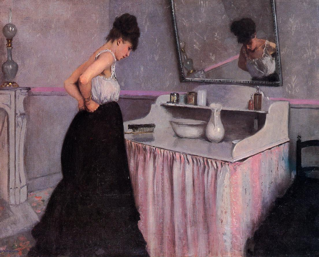 Woman at a Dressing Table  1873 | Gustave Caillebotte | Oil Painting