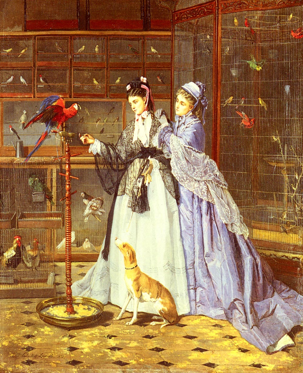 At The Birdsellers | Camille Cabaillot Lassalle | Oil Painting
