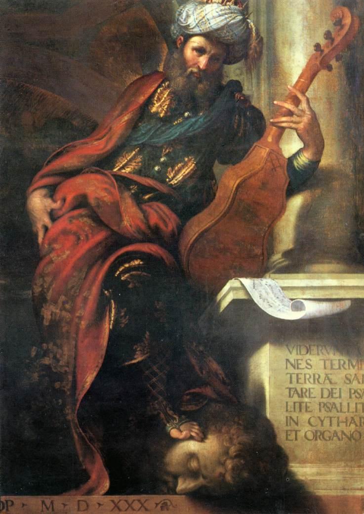 The Prophet David 1530   Camillo Boccaccio   Oil Painting