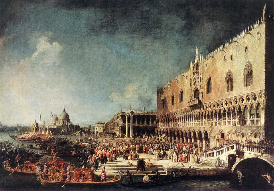 Arrival Of The French Ambassador In Venice 1740s | Canaletto | Oil Painting
