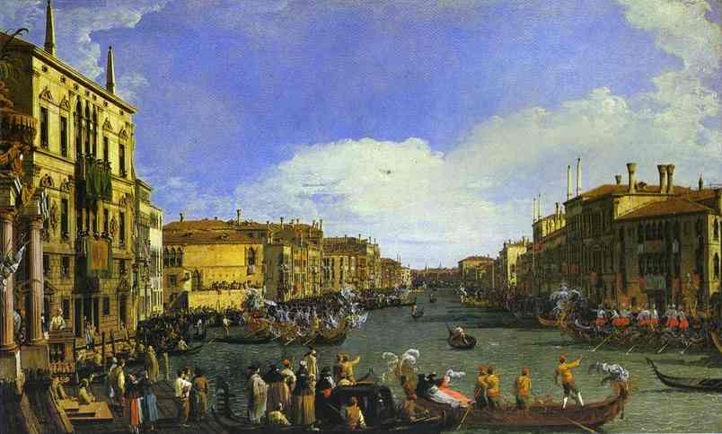 A Regatta On The Grand Canal 1732 | Canaletto | Oil Painting