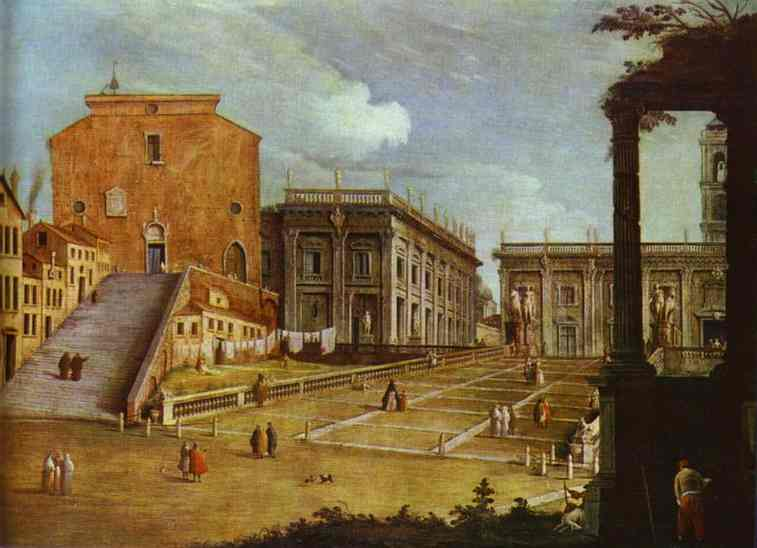 Capitol Square In Rome 1749 | Canaletto | Oil Painting