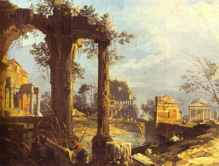 Capriccio View With Ruins 1740 | Canaletto | Oil Painting