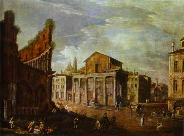 Church Of St Antony And St Phaustina In Rome 1749 | Canaletto | Oil Painting