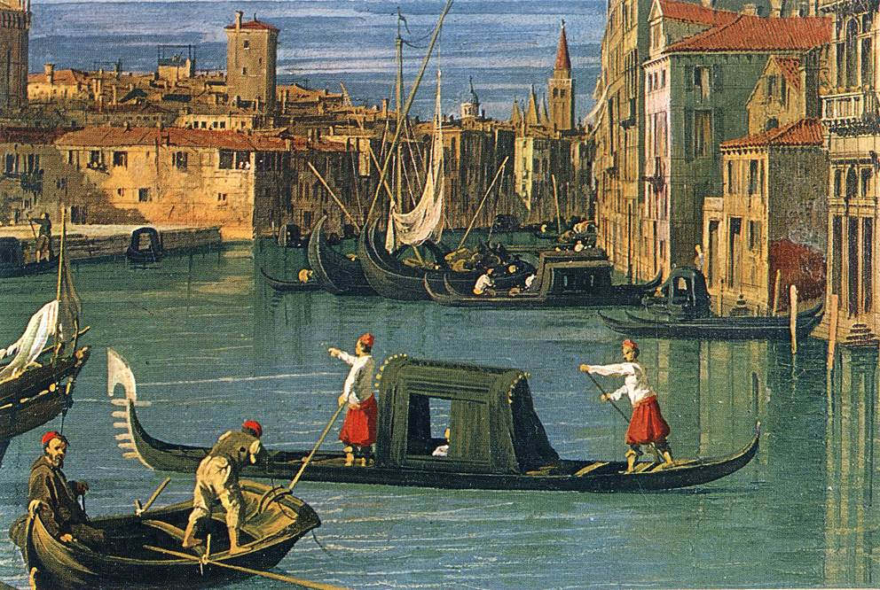 The Grand Canal and the Church of the Salute (detail) | Canaletto | Oil Painting