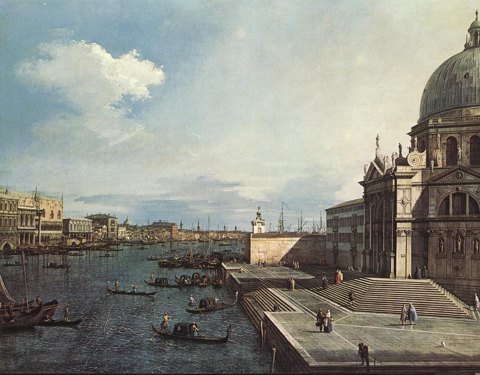 The Grand Canal at the Salute Church | Canaletto | Oil Painting