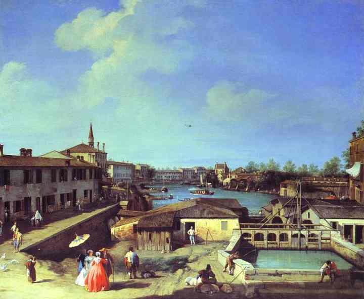 Dolo On The Brenta 1720s-1742 | Canaletto | Oil Painting