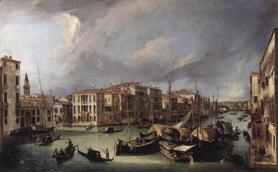 The Grand Canal with the Rialto Bridge in the Back | Canaletto | Oil Painting