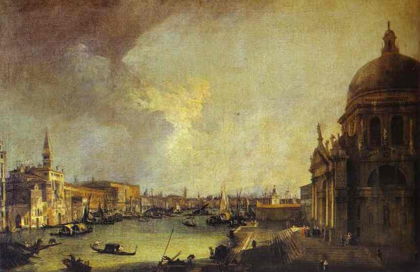 Entrance To The Grand Canal Looking East 1725 | Canaletto | Oil Painting