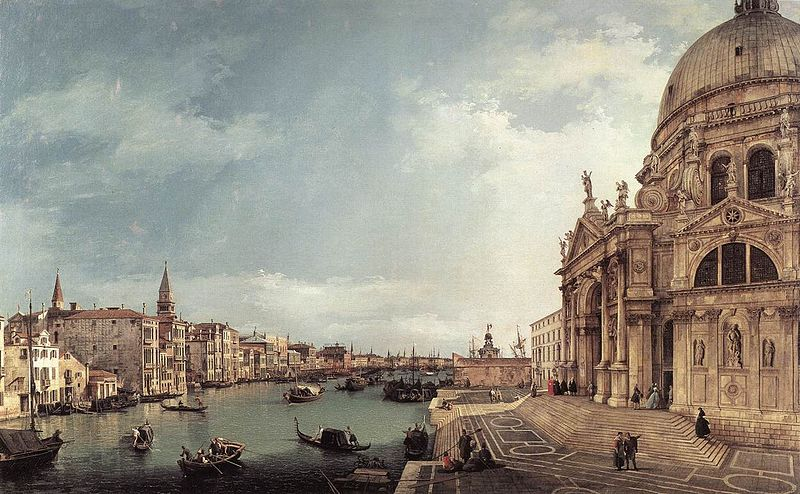 Entrance To The Grand Canal Looking East 1744 | Canaletto | Oil Painting