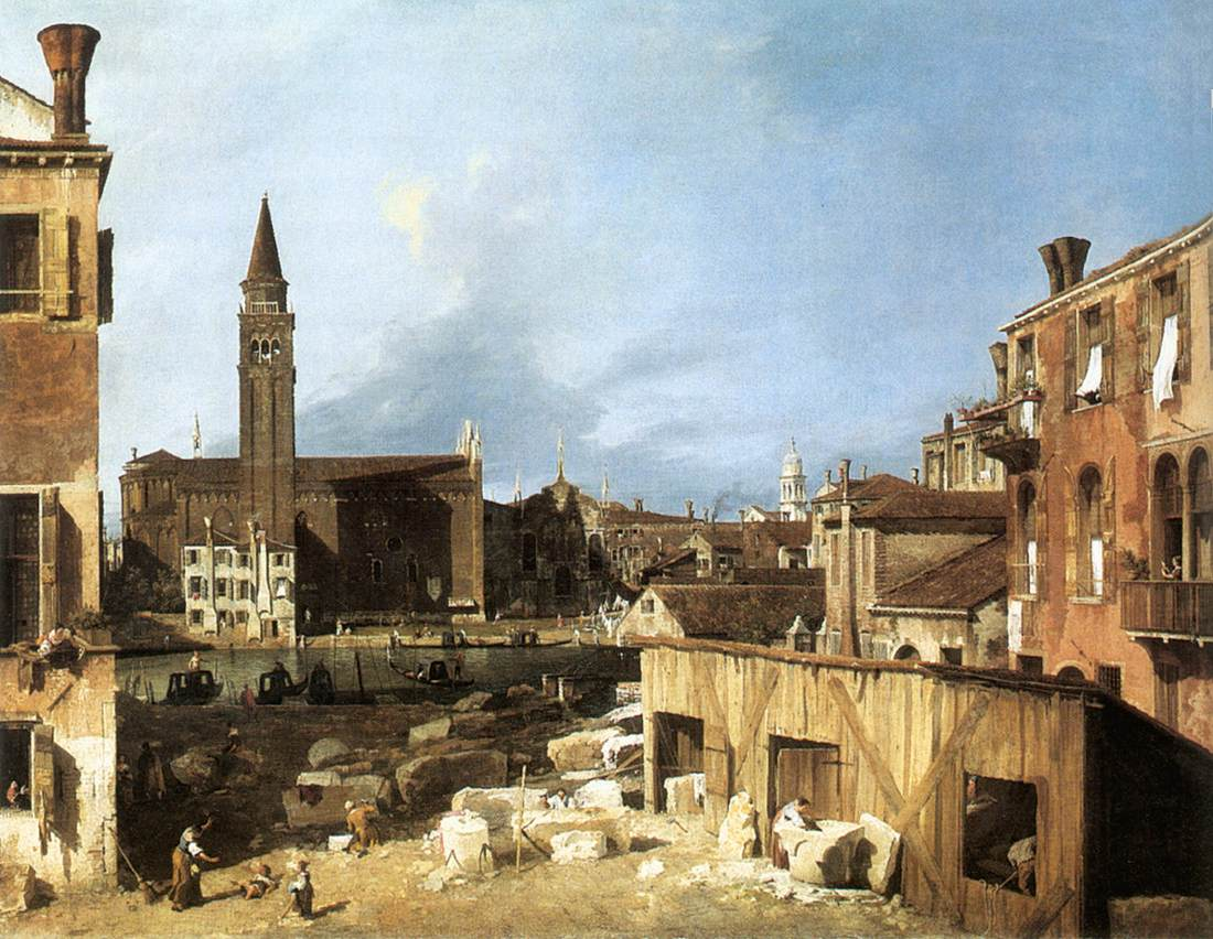 The Stonemasons Yard | Canaletto | Oil Painting